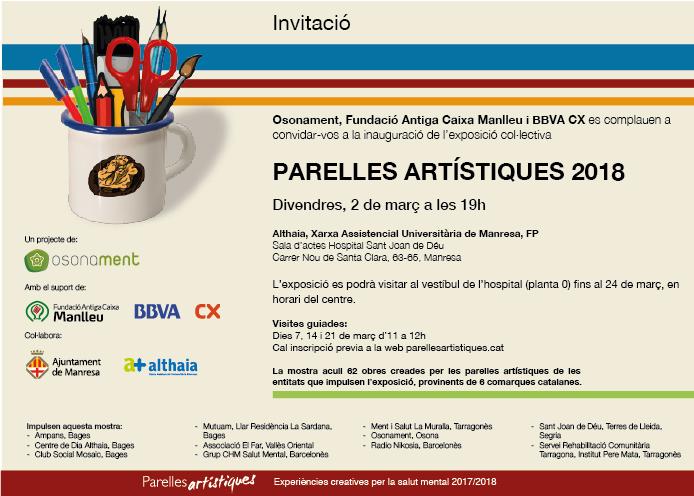 Inauguració de l'exposició col·lectiva Parelles Artístiques a l'Hospital Sant Joan de Déu de Manresa